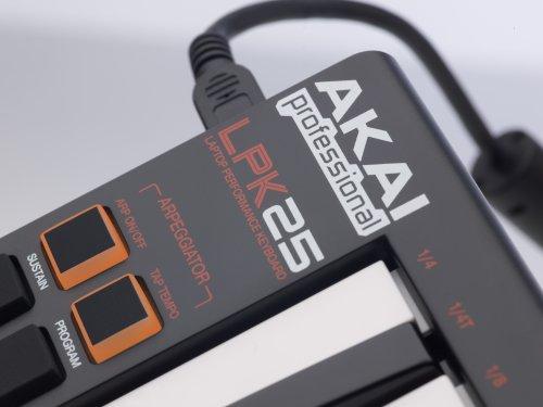 Amazon.com : Akai Professional LPK25 25-Key Ultra-Portable USB MIDI Keyboard Controller for Laptops : Akai Mpk Mini