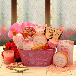 Once Upon A Rose Spa Set – Bath and Body Gift Basket
