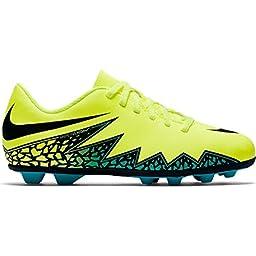 Nike kids Jr. Hypervenom Phade II FG-R size 2y Volt/Black/Jade