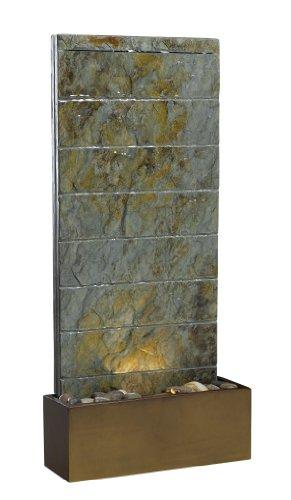 Kenroy Home #50621SL Brook Indoor/Outdoor Floor/Wall Fountain in Natural Slate Finish