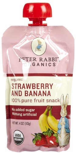 Peter Rabbit Organics Strawberry & Banana - 10 pk, Size 10