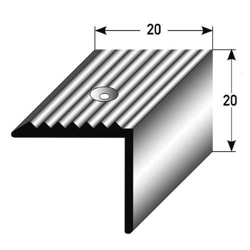 1 m tre nez de marche corni re pour escaliers 20 mm x - Nez de marche exterieur alu ...