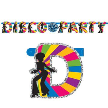Disco Dancers Party Letter Banner (6ft)