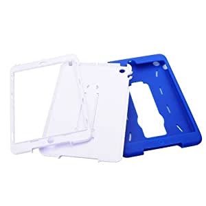 Silicone & Plastic Protective Case Cover Stand for iPad Mini