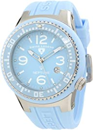 Swiss Legend Men's 21848P-012 Neptune Light Blue Dial Light Blue Silicone Watch