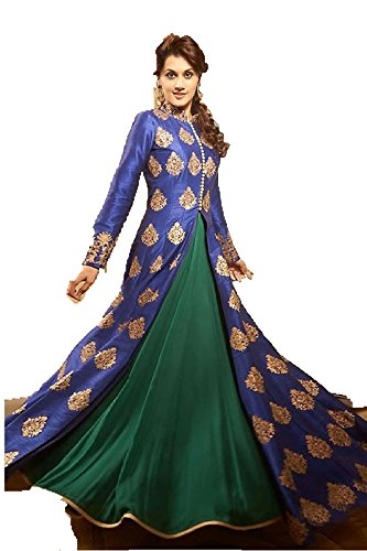 Diya Women\'s Blue Banglory Indo-Western Dress Material [SDM 9(DS_S1)]