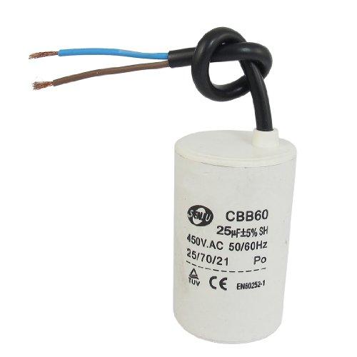 Cbb60 450Vac 25Uf 5% Wired Terminal Motor Start Capacitor