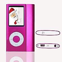 L.D Generation Lecteur MP3/MP4 16GB Mince Avec 1,8 Pouces TFT écran 16Go Rose, interface Mini-USB, vidéo, musique, jeux et films, photos Parcourir, E-book Reader