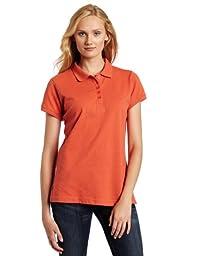 Dickies Women\'s Pique Polo Shirt, Sunset, Medium