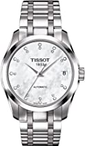 Tissot Couturier ladies watch Automatic with Diamomd Markers T035.207.11.116.00