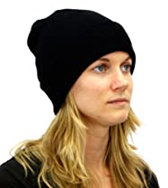 Streetwear Classic Knit Wool Beanie in Black for Men or Women