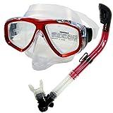 Promate Snorkeling Scuba Dive DRY Snorkel PURGE Mask Gear Set