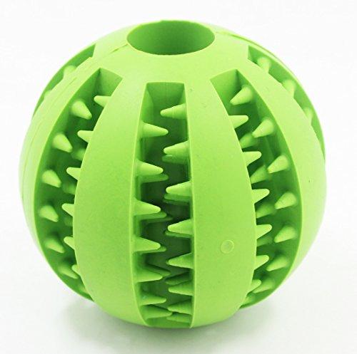 Bild: 100 ungiftiges Naturkautschuk Pet KauenSpielzeug für große und kleine Haustier Runden Hund SpielzeugKugel für HaustierMahlzahngrün