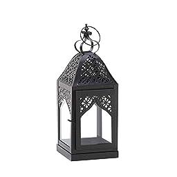 Zingz & Thingz Small Black Filigree Candle Lantern