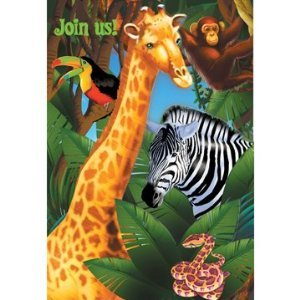 Jungle Safari Party Thank You Notes - Jungle Theme Thank You Notes - 8 Count