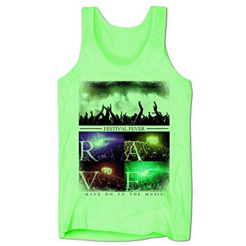 Bang Tidy Clothing Men'S Festival Rave Music Low Cut Vest Neon Green M