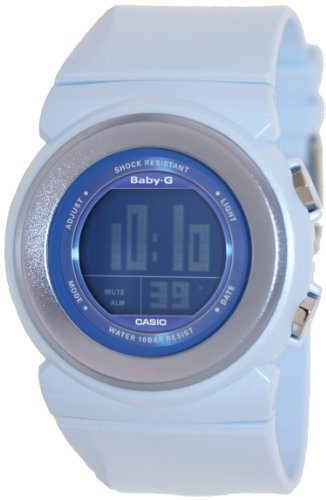 Casio Women's Baby-G BGD100-2 Blue Resin Quartz Watch with Digital Dial