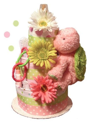 Tumbleweed Babies 1175023 Little Turtle Diaper Cake 3 Tier