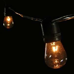 Amazon com commercial edison string lights 24 clear bulbs 54 ft