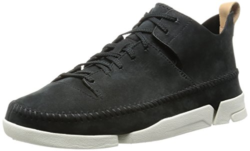 clarks-originals-trigenic-flex-mens-low-top-sneakers-black-black-nubuck-8-uk-42-eu
