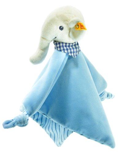 Steiff Eli elephant comforter, white/blue Baby Plush - 1