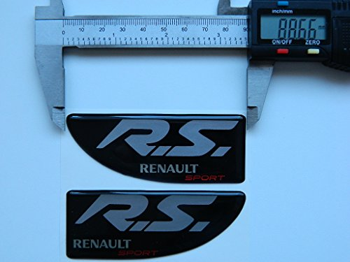 X2 SET OF RENAULT RS SPORTS BADGE EMBLÈMES