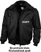"""Dienstblouson / 4-in-1-Dienstjacke """"Four Seasons SECURITY"""", schwarz, bedruckt auf Brust und Rücken mit SECURITY, wasserdicht, lieferbar von Gr. S-XXXL"""
