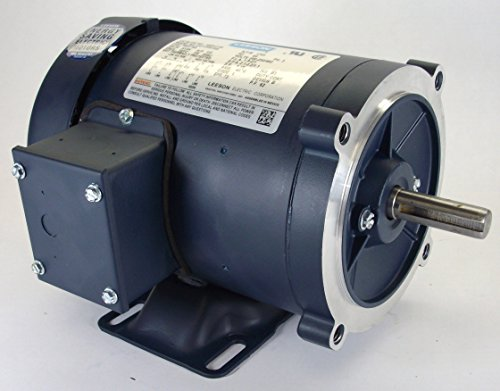 2Hp 1725Rpm 145Tc Frame Tefc C-Face (Rigid Base) 208-230/460V Leeson Electric Motor # 121181