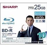 SHARP 録画用ブルーレイディスク BD-R 25GB(1層) 1-4倍速対応 1回録画用 インクジェットプリンタ対応 10枚入り VR-25BR10