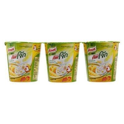 Knorr Cup Jok Instant Rice Porridge Chicken And Corn Flavor Cup 35G. (Pack Of 3)