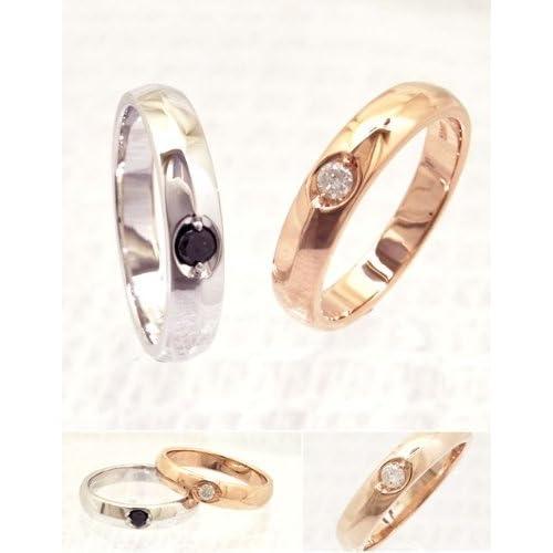 ソリティアリング/ダイヤモンド 指輪/ring/甲丸/一粒 メンズ レディース/ケース付き 【リング幅4mm・ブラックダイヤモンド】【プラチナタイプ・8号】