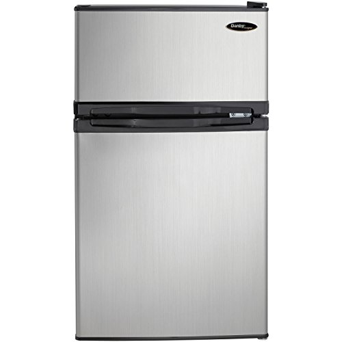 Danby DCR031B1BSLDD 3.1 cu. ft. 2 Door Compact Refrigerator, Steel (2 Door Mini Fridge With Freezer compare prices)