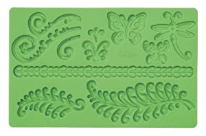 Wilton Fondant and Gum Paste Silicone Mold, Ferns