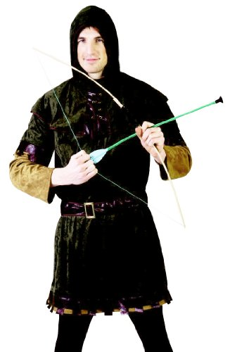 Funny Fashion Mens Medieval Renaissance Robin Hood Halloween Costume