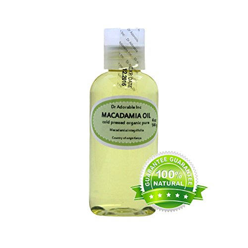 4 fl.oz Macadamia Nut Organic Oil Cold Pressed Undiluted