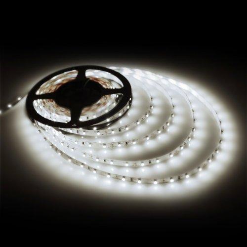 Supernight 16.4Ft 5M Smd 3528 Non Waterproof 300Leds Cool White Led Flash Strip Light ,Led Flexible Ribbon Lighting Strip,12V