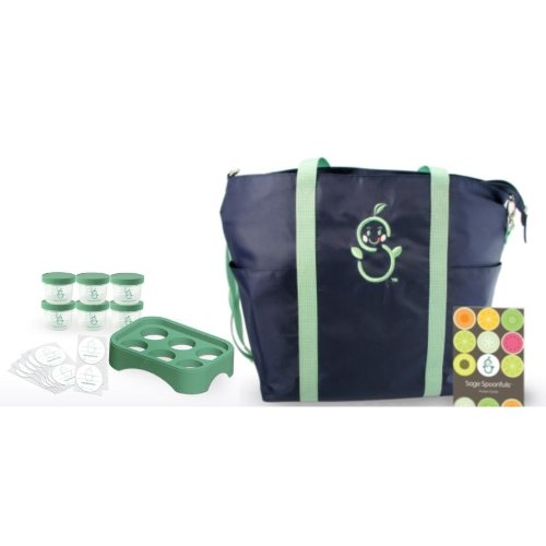 Sage Mommy Tote With Pocket Guide And Storage Essentials