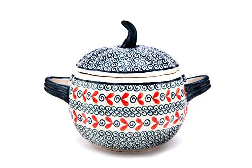 Bunzlauer Keramik Tasse à soupe potiron/Pot à confiture avec couvercle ø19,5cm, H = 14,8cm, V = 0,8L, décor 1138