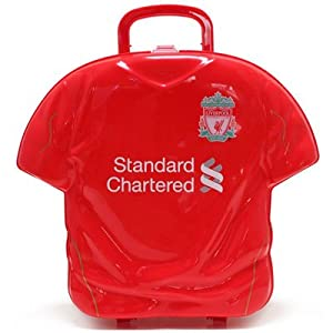 Official Liverpool Fc Shirt Shaped Personalised Lunch Box