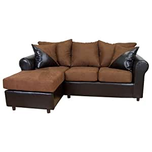 Tim chaise sofa sectional rolled arm for Amazon sectional sofa with chaise