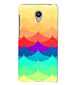 PRINTVISA Abstract Colourful Pattern Case Cover for Meizu M2 Note