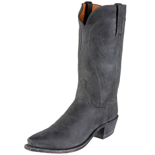 1883 by Lucchese Men's N8641 5/4 Western Boots,Stonewash Black Burnish,8.5 D(M)US