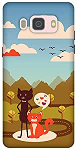 The Racoon Grip Cat Love hard plastic printed back case/cover for Samsung Galaxy J5 (2016)