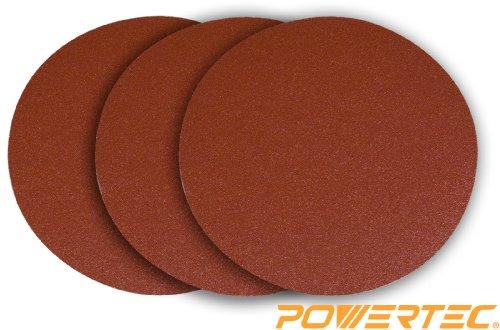 POWERTEC 110403 12-Inch PSA 150 Grit Aluminum Oxide Sanding Disc, Self Stick, 3-Pack