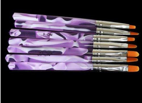 DulKiss ジェルが塗りやすい ジェルネイル ネイル ジェル アクリル用筆 アクリルブラシ スカルプチュア 3Dネイル UV 平筆 筆 DUー024