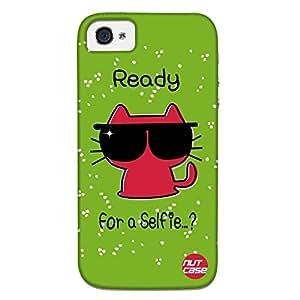 Designer iPhone 4S Case Cover Nutcase - Lets for a Selfie