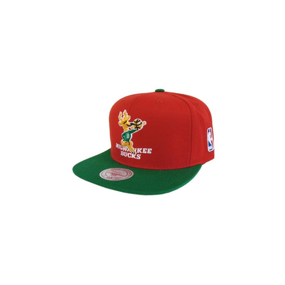 half off c572c e0d9d ... official milwaukee bucks mitchell ness logo retro snapback cap hat red  green d1b7f 08d65