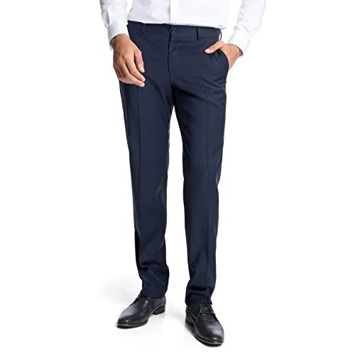 Esprit Men's 993EO2B902 COMF Wool Relaxed Suit Trousers