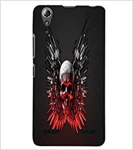 PrintDhaba Skull D-1240 Back Case Cover for LENOVO A6000 PLUS (Multi-Coloured)
