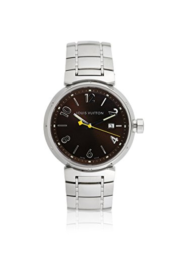 Louis Vuitton Men's Pre-Owned Tambour Brown/Stainless Steel Watch